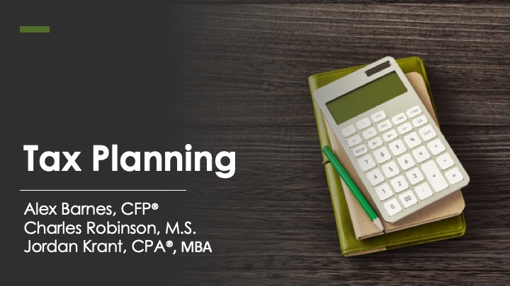 Tax Filing Extension & 2020 Tax Planning