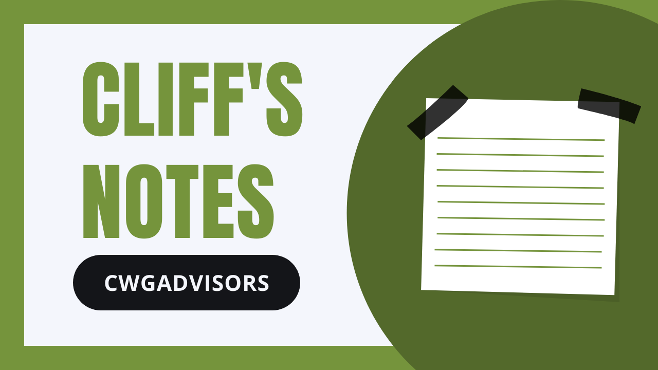 Cliff's Notes Oct 21, 2021